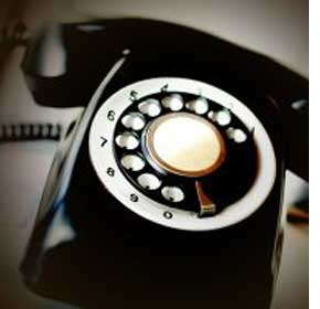 Close up of old fashioned telephone