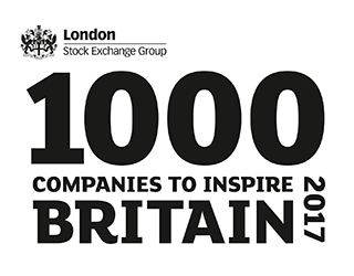 London Stock Exchange Group 1000 Companies to inspire Britain 2017 logo
