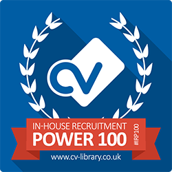 CV-Library In-house recruitment Power 100 logo