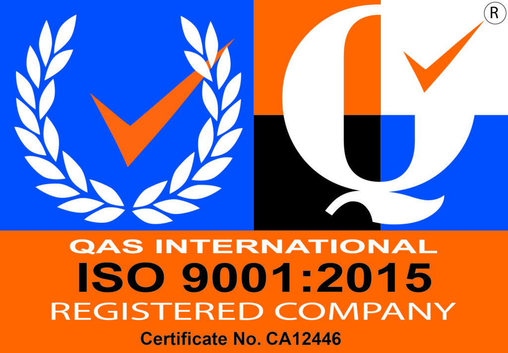 ISO 9001 2015 registered company Certificate