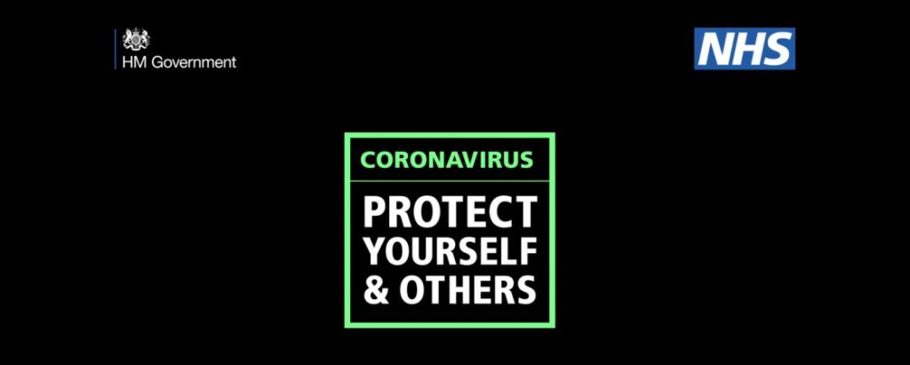 HM Government Coronavirus protect yourself and others visual